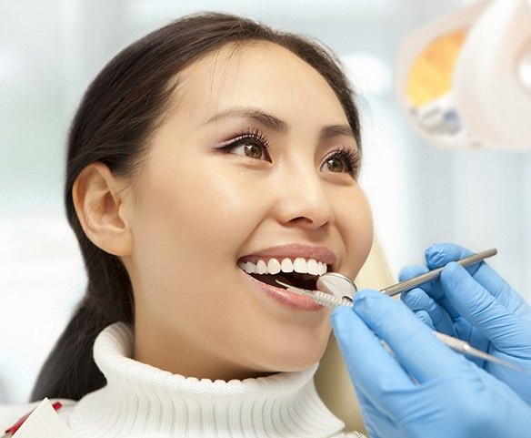 Patient receiving periodontal surgery